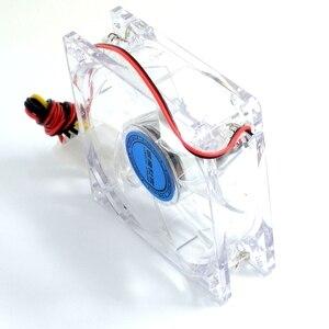 Image 4 - pc computer fan case cooling fan unit fan 8025 8cm with blue LED lights chassis fan 80 X80X25