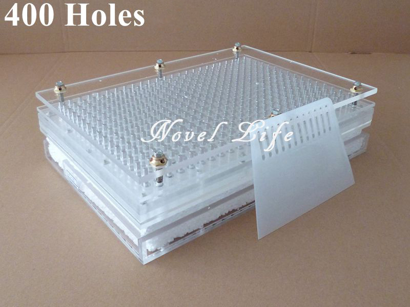400 Holes Manual Capsule Filling Machine Pharmaceutical Capsule Maker Filler Size 00 0 1 2 3 4 for DIY Herbal Capsule Acrylic