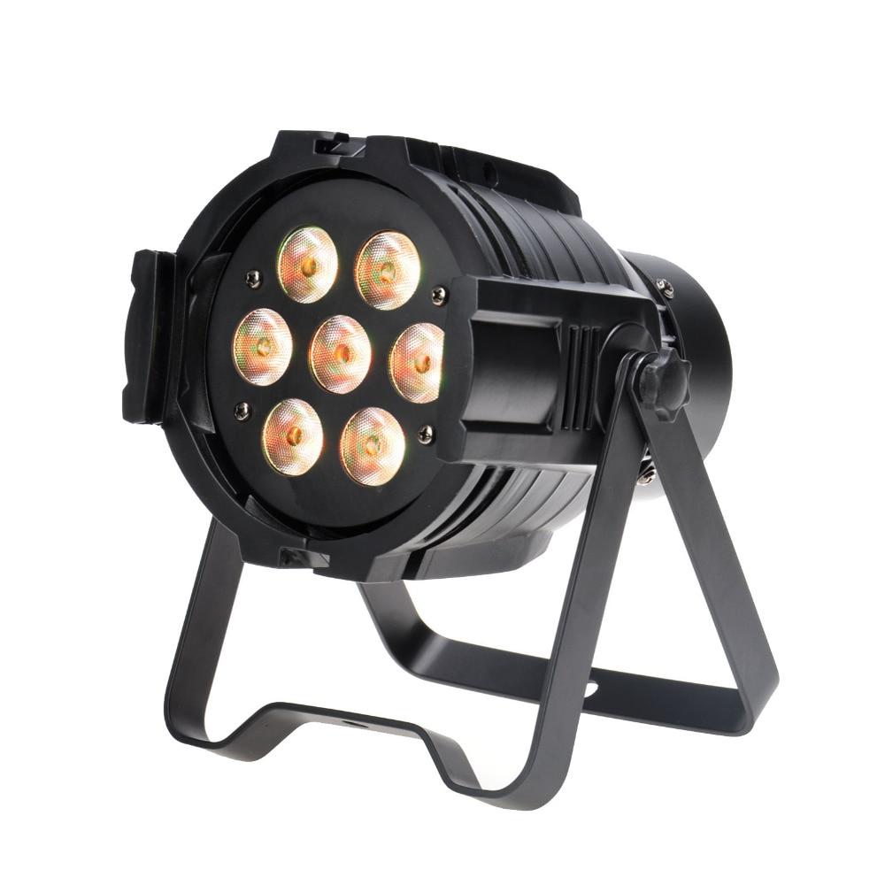 TSSS RGBW LED PAR Light 10W 7 LED 8 Channel DMX512 Stage Lighting Super Bright niugul dmx stage light mini 10w led spot moving head light led patterns lamp dj disco lighting 10w led gobo lights chandelier