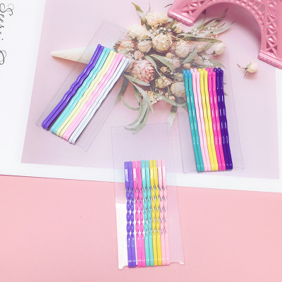 Girl's Hair Accessories Apparel Accessories 10pcs/lot Fashion Women Solid Metal Wild Girl Candy Color Clip Barrettes Female Elegant Headbands Hair Clips Lady Hairpins Hair