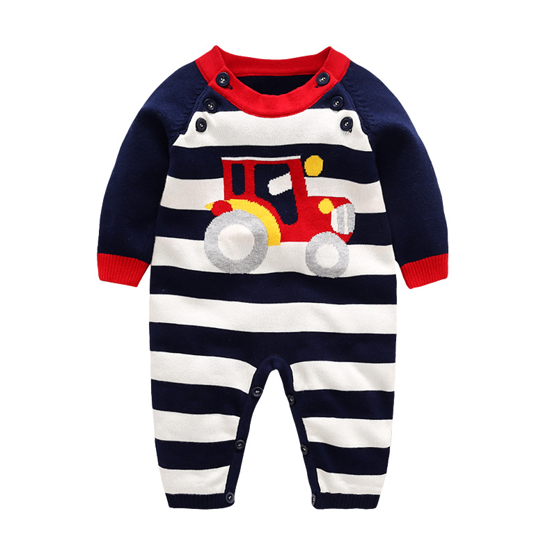 New Born Rompers for Boys and Girls Soft Cotton Knitting Sweater 2017 Autumn Children Overalls 3 9 12 18 24 Months Baby Clothes 1pcs free shipping 2015 new autumn and winter tot solid color knitting wool hat boys girls ski cap children skullies beanies