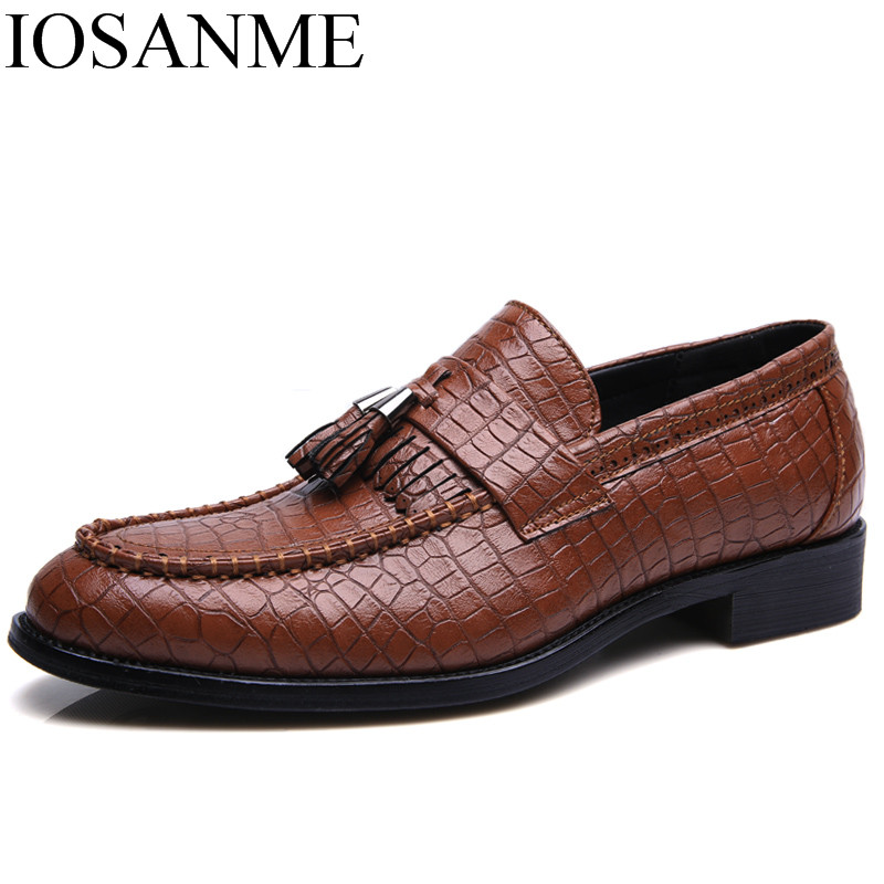 Designer Snake Skin Fashion Leather Casual Shoes Men Party Height Increasing Gold Wedding Dress Male Footwear Oxfords For Men Shoes Men's Casual Shoes