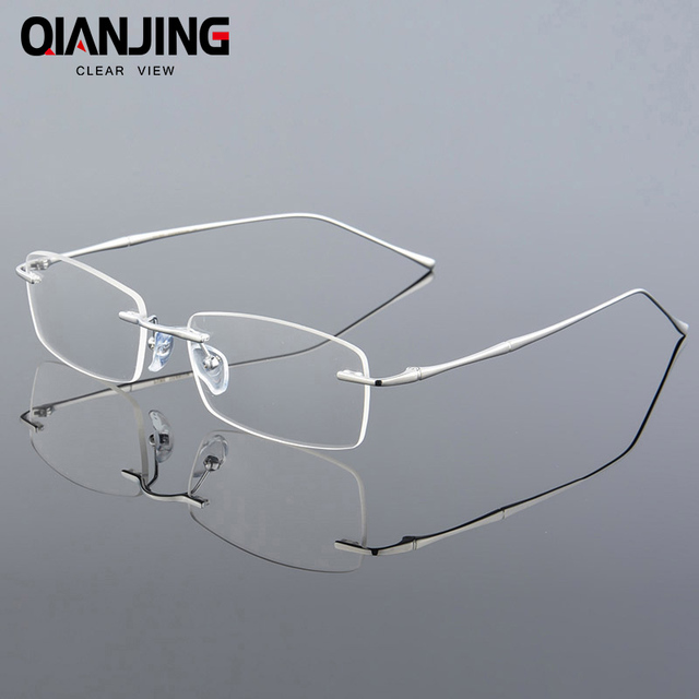 1b5b24e20824 Fashion Eyewear Unisex Glasses Frame Concise Design Rimless Eyeglasses Men  Women Name Brand Glasses Spectacles Optical