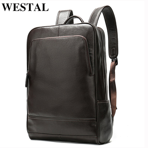 Image 4 - WESTAL 100% Genuine Leather Mens Backpack men Male Business bag schoolbag man fashion mens backpacks for male Leather 8110