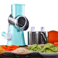 Manual Multifunctional Round Mandoline Slicer Manual Vegetable Cutter Slicer Potato Cheese Kitchen Gadgets Kitchen Tool