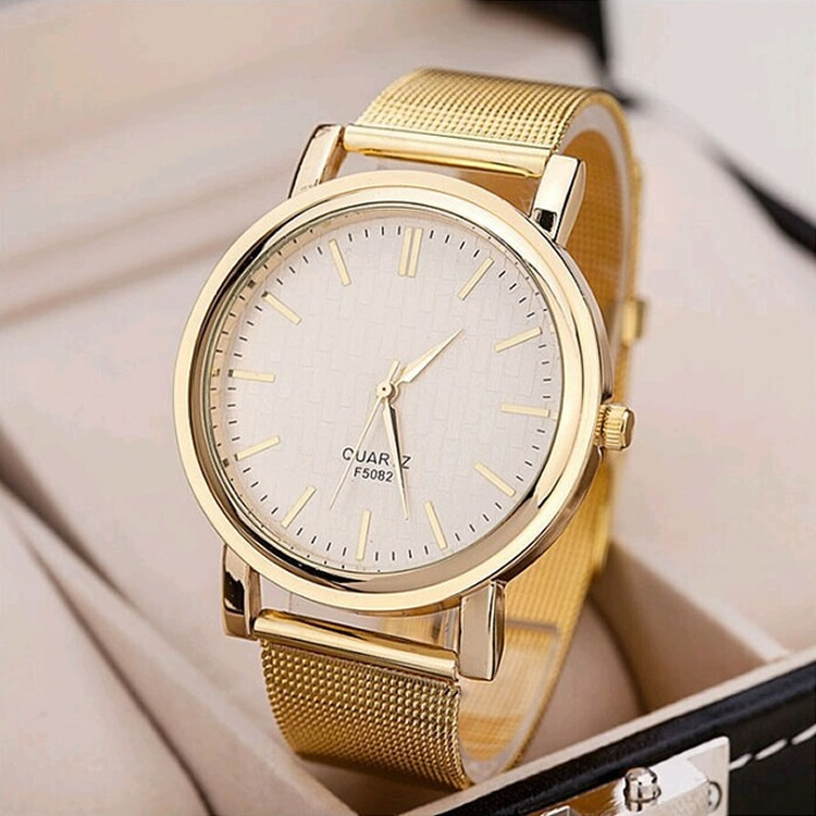 2018 gold quartz wristwatch men simple dial Flat Round relogio masculino male business watches stainless steel mesh strap watch seiko automatic movement binger mechanical mesh belt watch relogio masculino simple business wristwatch waterproof blue dial