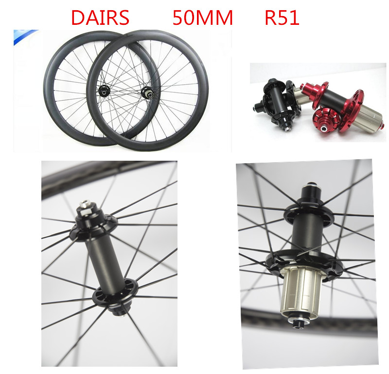 carbon wheels powerway R51 Straight pull 700C road 50mm clincher tubular bicycle wheelset bikes road wheels sobato bikes wheel carbon road wheels bicycle chinese oem wheelset 38mm clincher or tubular powerway r13 hub