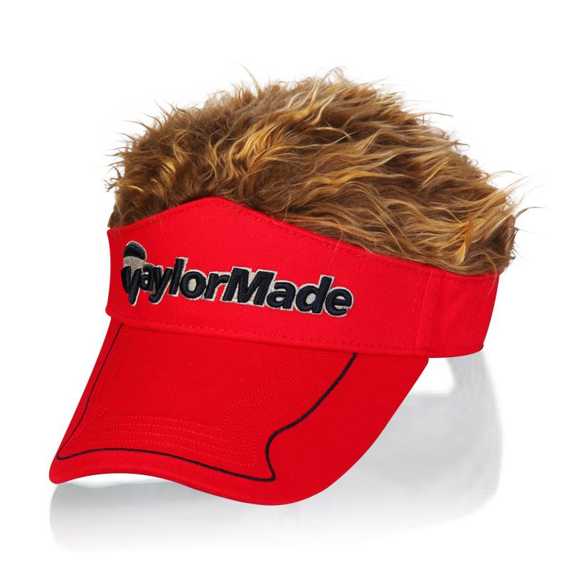 Free Shipping Golf Cap Hat wig hats for men and women hair Cap visor Golf  UV protection hats Wholesale-in Holidays Costumes from Novelty   Special  Use on ... 49bbaaae030