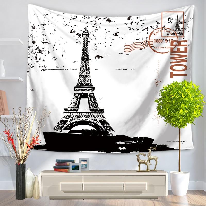 Torre Eiffel Tapices Impreso Moderno 150x130 Cm Pared Mantas - Tapices-de-pared-modernos
