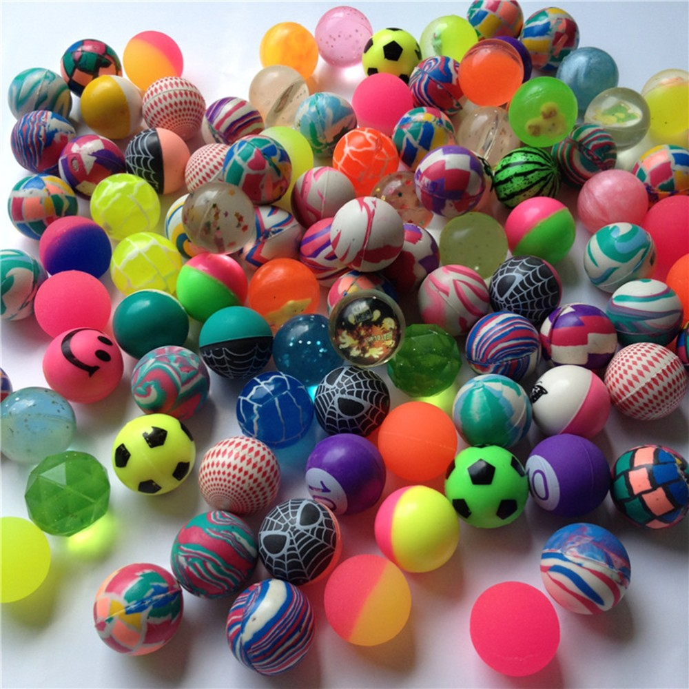 10 Pcs/lot Kids Children Elastic Colored Juggling Funny Rubber Balls Toy Boy Bouncing Outdoor Sport Games Ball Toys Wholesale