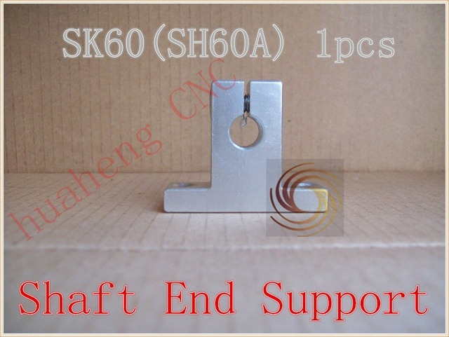 SK60 60mm bearing shaft support for 60mm rod round shaft support XYZ Table CNC router SH60A 1pcs