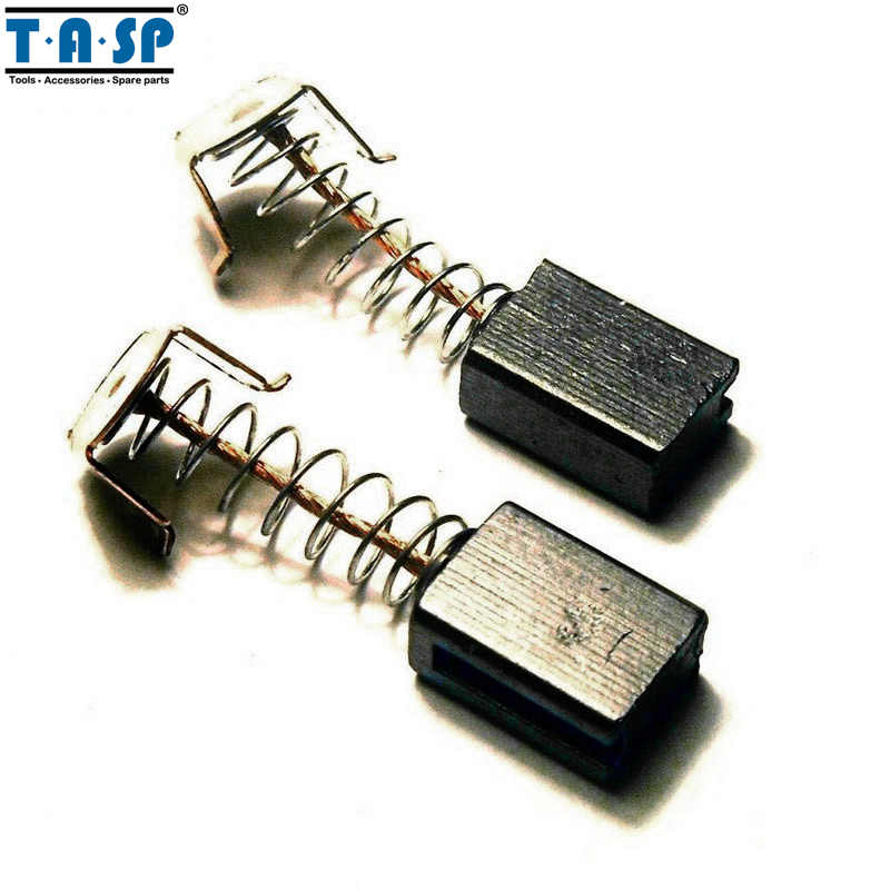 TASP 10 Pair Carbon Brushes 5x8x12mm Untuk B & D G720 Angle Grinder Motor