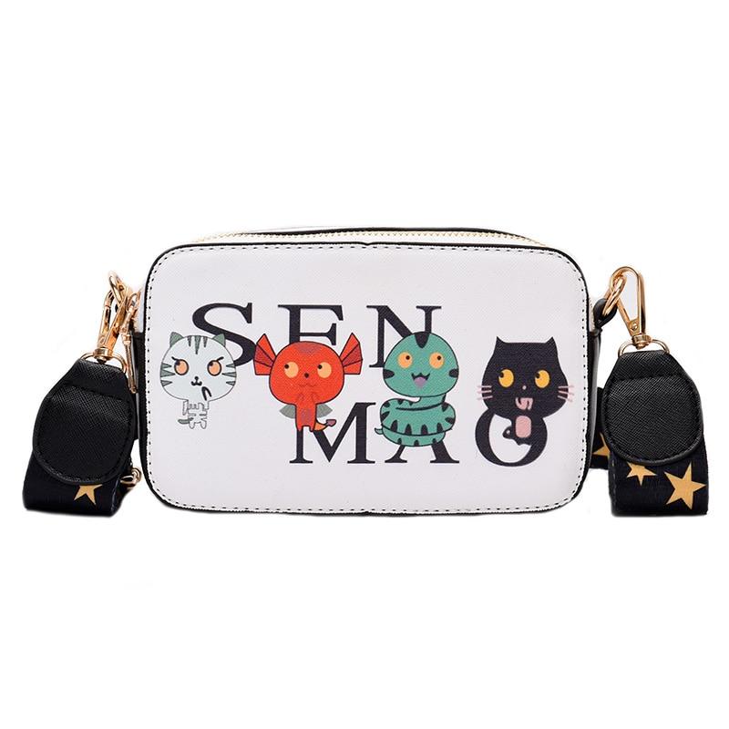 Girl lovelyFashion Brand Cartoon Printing leather Messenger Bag Designer Shoulder Crossbody Women Handbag