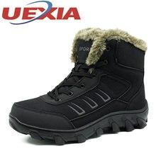 75a7862bb Ручной работы Мужские зимние сапоги большой размер 39-48 теплый плюш обувь  нескользящие Мужские Зимние