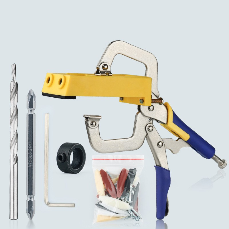 Woodworking Oblique hole locator Style Pocket Hole Jig Kit Set System for Wood Working Step Drill
