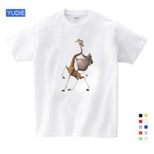 Mais vendidos impressão dos desenhos animados madagascar verão nova camisa t gloria melman bonito engraçado t camisa verão enviar crianças presente de aniversário