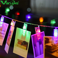 Holiday Lighting 20LED Photo Wall String 3M Clip Birthday Valentine Party Light Warm White Deco Creative