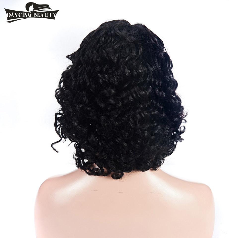 DANCING BEAUTY Lace Front Human Hair Wigs For Women 130% Density Brazilian Loose Wave Wig Non Remy Hair Wavy Natural Color