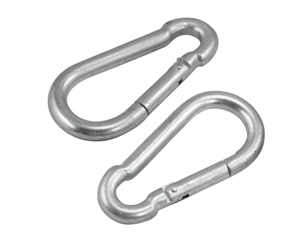 2 x SCREW LOCK SNAP HOOK Carabiner Clip WLoad 510kg 12mm x 140mm Long X-LARGE