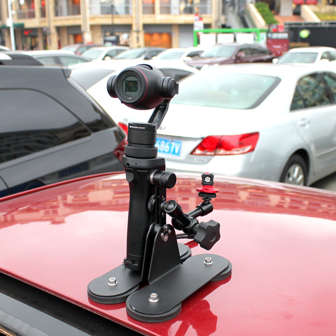 Magnetic camera car mount for GOPRO HERO and DJI OSMO with rubber protection and isolation in Photo Studio Accessories from Consumer Electronics