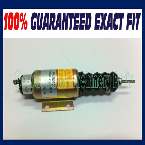 FUEL SHUT OFF SOLENOID 2001ES-24E3U1B2S2 SA-5174-24 (24V,3 terminals) 3924450 2001es 12 fuel shutdown solenoid valve for cummins hitachi