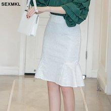 SEXMKL, Женская юбка-карандаш размера плюс, высокая талия,, модная летняя кружевная юбка, официальная, офисная, для девушек, для работы, черная, макси, белая