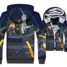 Rick and Morty 3D Print Hoodie Men Funny Hooded Sweatshirt 2018 Brand Winter Thick Fleece Warm Zip up Coat Plus Size 5XL Jacket недорого