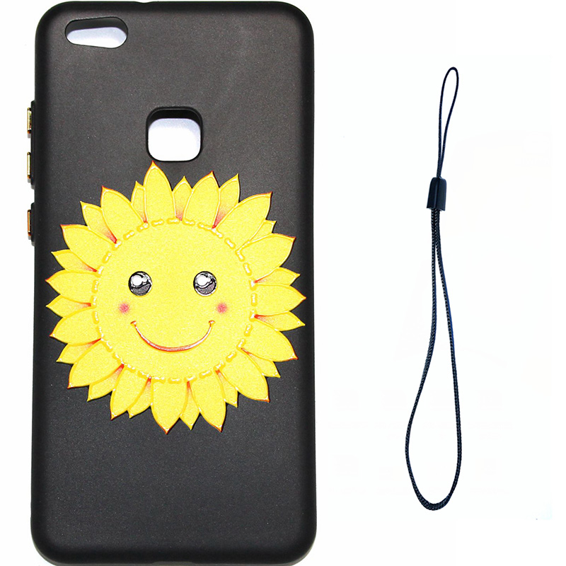 3D Relief flower silicone huawei P10 lite (12)