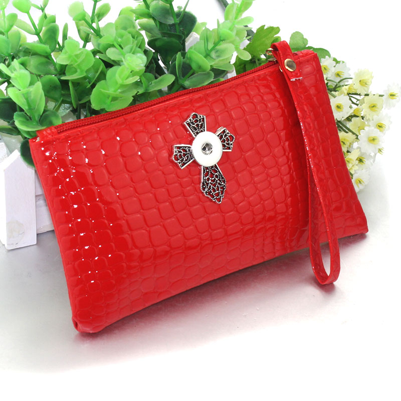 leather Snap Button Bag Wallet Hold Snap Button 18MM Charms