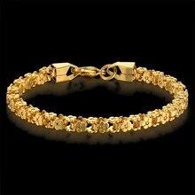 Gold Bracelet Trendy Stainless Steel Bicycle Chain Bracelets for Women Femme Vintage Link Jewelry 7' pulseras 5MM Women Bracelet