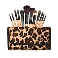 Beste Angebot! 12 stücke professionelle Make-Up Pinsel Set Lidschatten Pulver Bürste Handtasche Frauen/Salon Schönheit kosmetik pinsel