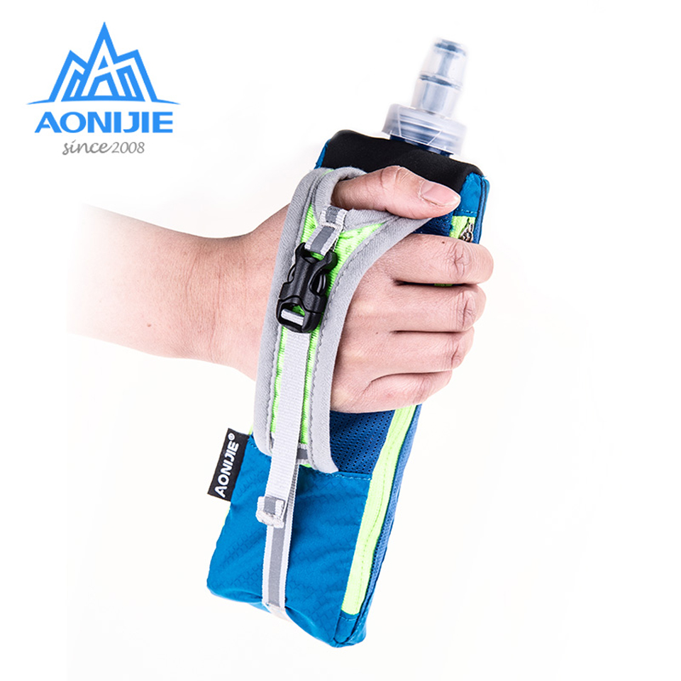 AONIJIE Hand-held Sport Kettle Pack With 500mL Soft Water Flask  Waterproof Marathon Running Phone Bag For 5.5 Inch Phone