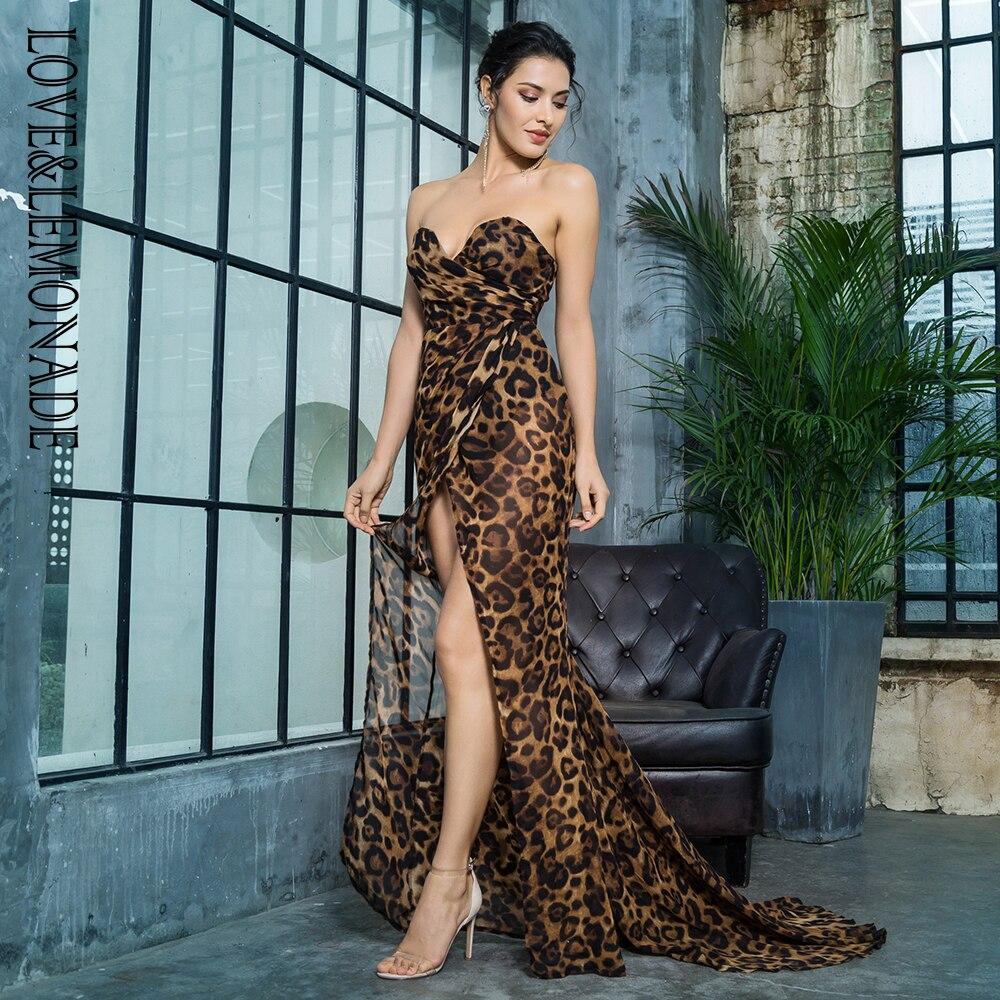 Profondo Sottile Brown Chiffon A Marrone Limonata Leopard Del Scollo V Amore Lungo Trasversale Lm81352brown Vestito Leopardo amp; ETqwUCxnPA