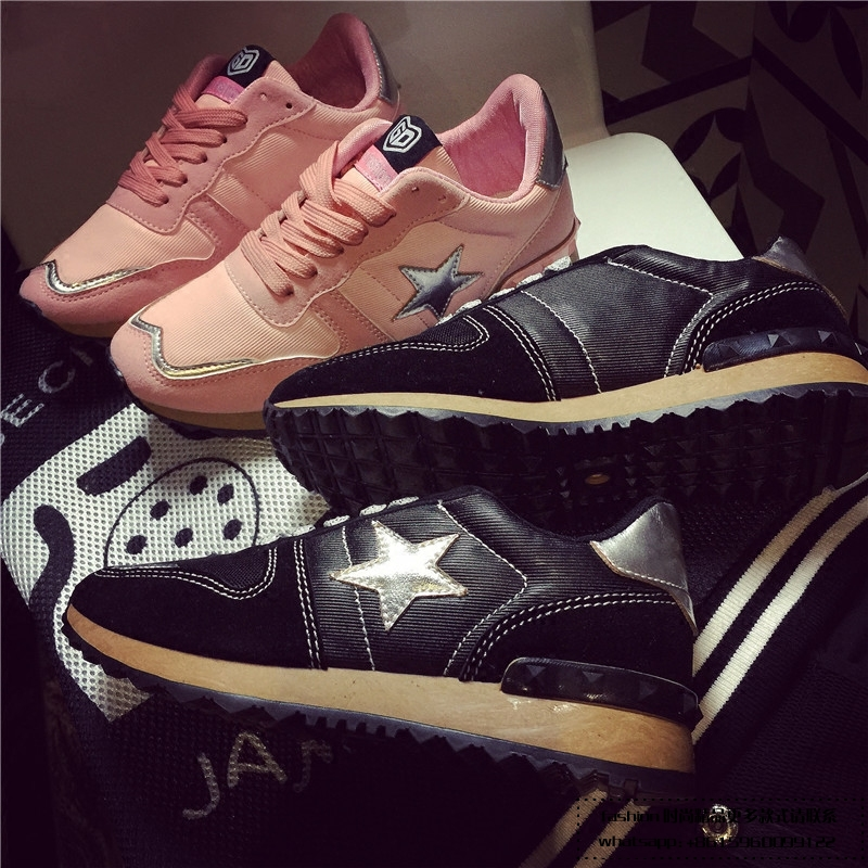 ФОТО Hot 2017 New Fashion Womens Platform Shoes Sales Trainers Pink Black Top Quality Brand Valentine Air Mesh Shoes Woman footwear