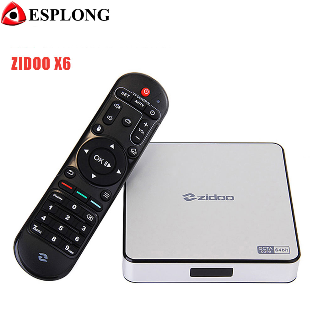 Zidoo X6 Pro 4K*2K H.265 Smart Android 5.1 TV Box RK3368 Octa Core 2GB 16GB 1000M LAN Dual WIFI KODI Bluetooth 3D Media Player