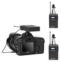 BOYA BY WM8 PRO UHF двойной беспроводной петличный микрофон Systerm Lav интервью для DSLR видео камера Mic 2 Передатчики 1 приемник