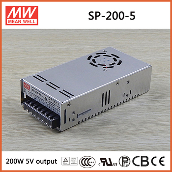 MEAN WELL SP-200-5 5V 40A meanwell SP-200 5V 200W Single Output with PFC Function Power Supply