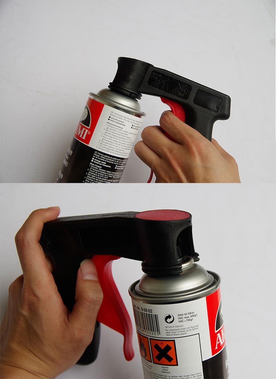 Image 4 - Plasti Dip pintura Aerosol Spray Gun Handle with Full Grip Trigger Locking Collar  MX PD01-in Car Stickers from Automobiles & Motorcycles