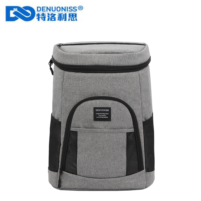 DENUONISS Insulated Cooler Backpack Lightweight Backpack With Cooler Leak proof Soft Large Capacity Camping Cooler Bag