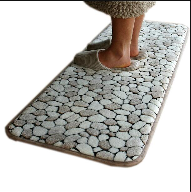 2pcs Set Memory Foam Living Room Carpet Anti Slip Long