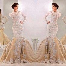 Sparkly Champagner 2016 Abendkleid Mit Langen Ärmeln Arabischen Muslimischen Formale Kleider Für Hochzeit Promi Guest Kleid