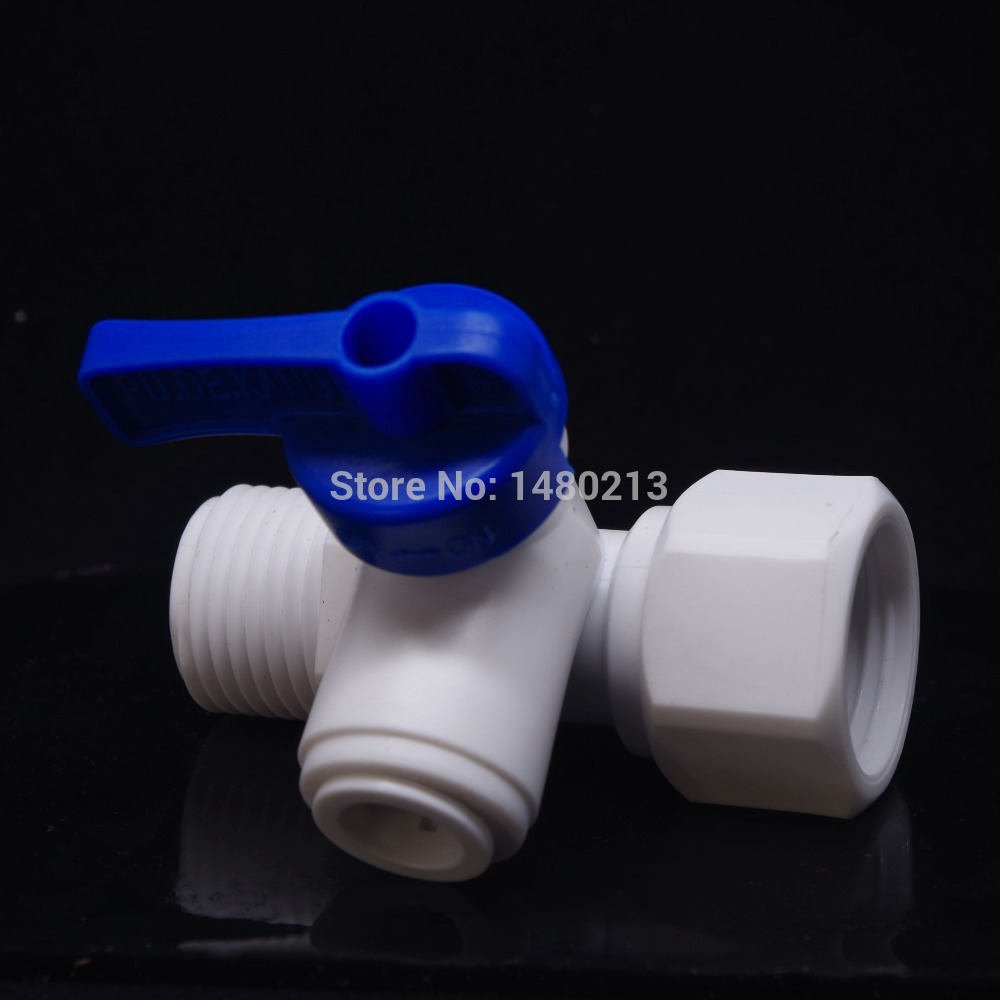 Tee 1/2 Male BSP-1/4  OD-1/2 Female BSP Tap Shut Off Ball Valve Connection Aquarium RO Water Filter Reverse Osmosis System