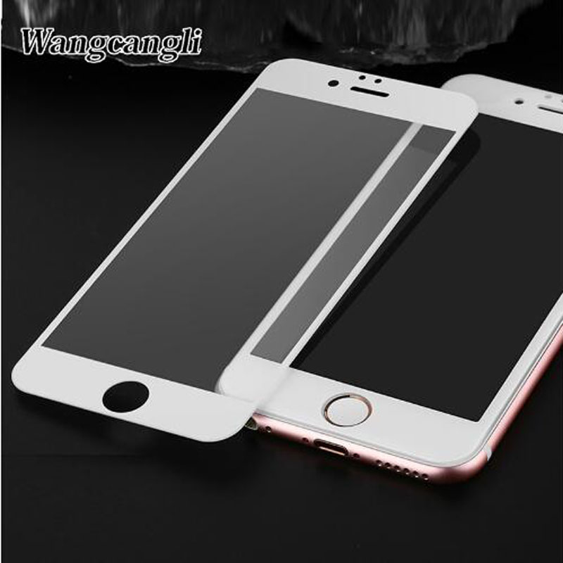 wangcangli 3D Screen Protector For iPhone 7 8 glass Red full coverage tempered glass For iPhone 6 6s screen protection glass image
