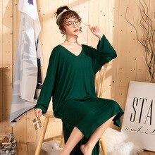 3xl-5xl  Sleepwear Women Plus Size Sleep Dress Sleeping Clothes Long Nightgown 1074