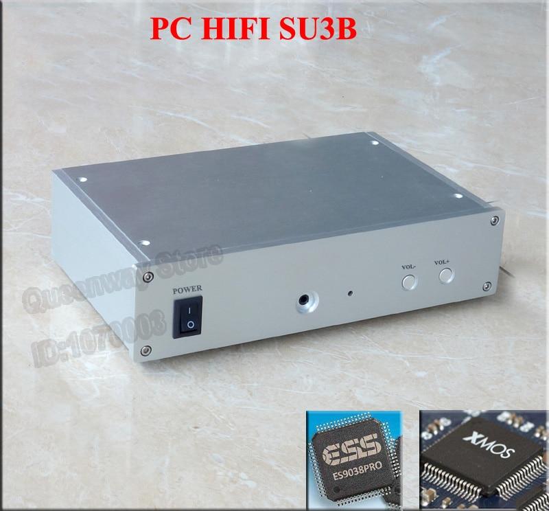 SU3B ES9028PRO ES9038PRO Asynchronous USB decoder DAC Headphone with 30W R type transformer Vishay MMA 0204 OPA604AP OPA2604AP su3b pc hifi dac es9028pro xmos u8 asynchronous usb decoder headphone amplifier