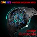 Función de Doble Pantalla relojes Hombres LED Digital Relojes de Pulsera Hombres Cronómetro Alarma Calendario Brújula Resistente Al Agua relogio masculino