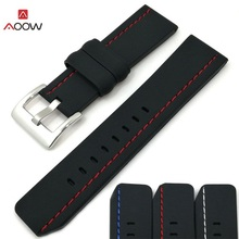 AOOW Silicone Men Sport Watchband Diving Waterproof Replacement Watchbands Strap