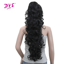 Deyngs 75cm Long Curly Ponytail 220g Artificial Synthetic Tress Claw In Pony Tail Hair Extension Natural False Women's Hairpiece