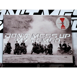 hand signed EXO autographed 5th album DON`T MESS UP MY TEMPO K-POP 112018