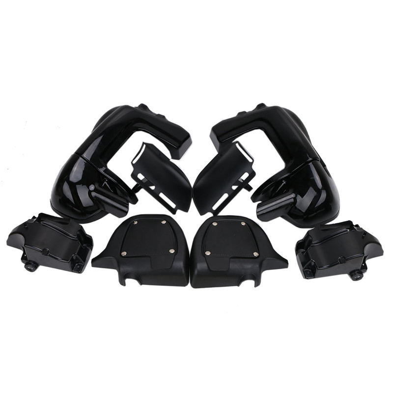 1Set Black Glossy Motorcycle Lower Vented Leg Fairings Glove Box For Harley Davidson Road Street Glide 1983 2013 Left Right